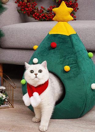 Будинок-лежанка в формі ялинки Для котів та собак