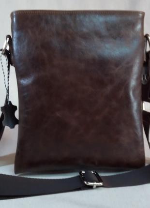 Мужская кожаная сумка через плечо