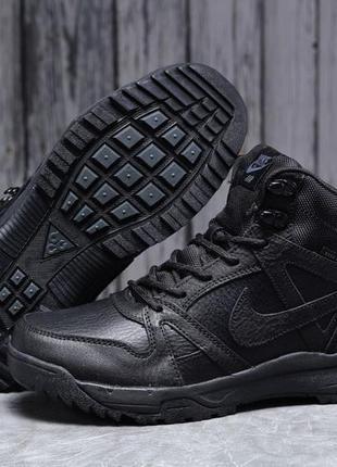 ► nike air acg, черные зимние мужские кроссовки 31702