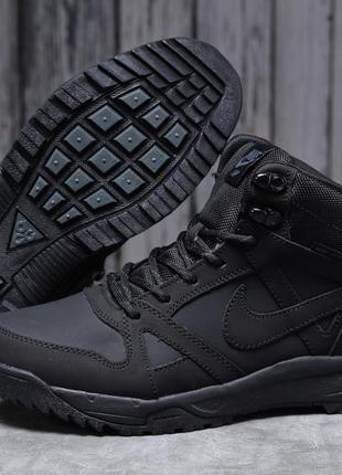► nike air acg, черные зимние мужские кроссовки 31701