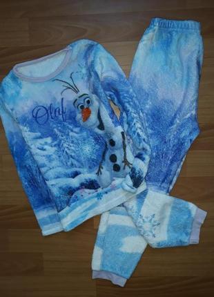 Тёплая пижама george на 7-8 лет