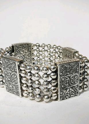 Браслет массивный мужской от 100 грамм серебро на заказ