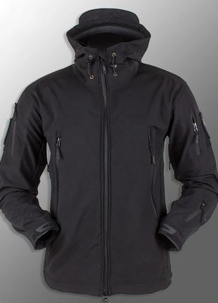 """Куртка Soft Shell """"ESDY 105"""" - Чорна, поліцейська (б.у)"""
