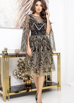 Платье сетка гипюр кружево
