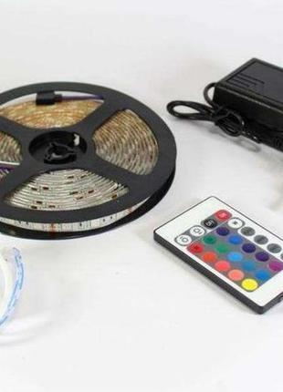 Лента Светодиодная В Силиконе (Влагозащищенная) RGB 5050 комплект