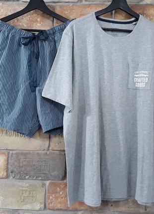 Мужская пижама, домашний костюм livergy германия, футболка шорты