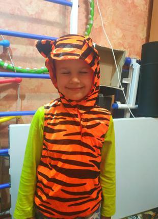 Новогодний карнавальный костюм тигра, тигрёнка на 3-5 лет