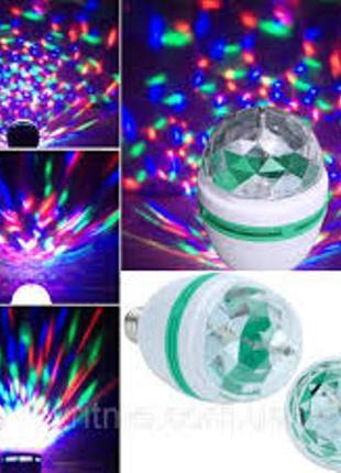 Led mini party light, Диско лампа, Вращающаяся лампочка Led
