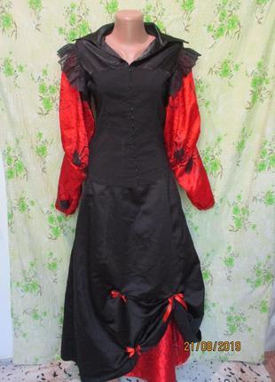 Длинная пышная юбка на хэллоуин/принт пауки паутина halloween ...