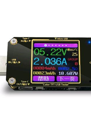 USB тестер, вольтметр, амперметр UT21 с Bluetooth