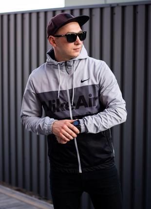 Куртка в стиле air черно-антрацит
