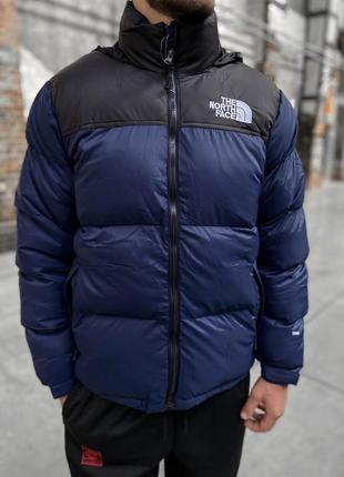 Пуховик the north face 700 - dark blue