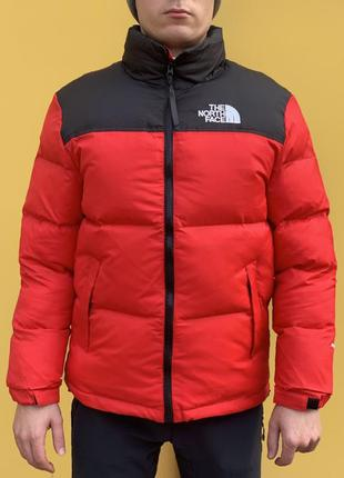 Пуховик the north face  700 / red