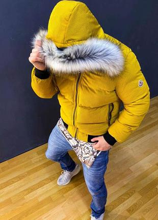 Мужская куртка moncler длинная