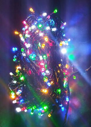 LED Гирлянда кристалл на елку,длинная гирлянда,маленькая гирлянда