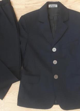 Костюм школьный для мальчика темно-синего цвета