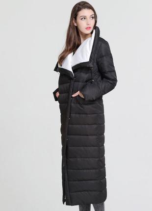 🔥стильный длинный зимний пуховик 🔥 пуховое пальто натуральный ...