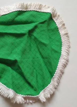 Декоративная салфетка подставка зелёная зелена підставка тканевая