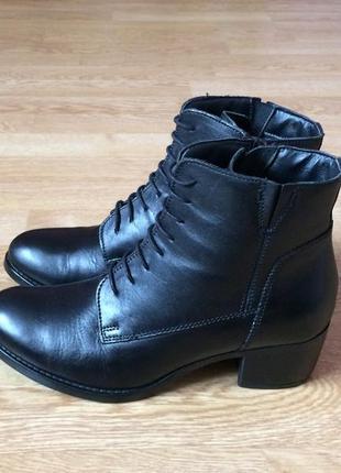 Кожаные ботинки andre 39 размера в идеальном состоянии