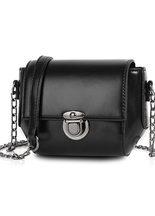 Небольшая сумка женская через плечо черная