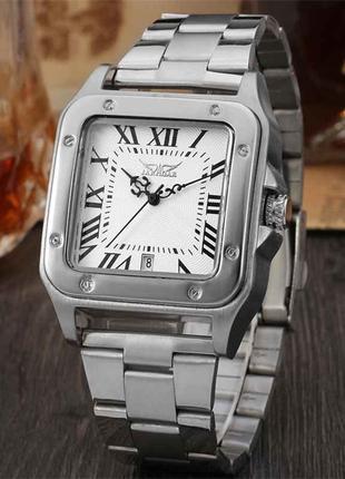 Часы наручные мужские JARAGAR RC Silver M144