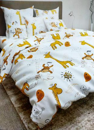 """Детский комплект постельного белья  """"жирафки"""" 🦒 100% хлопок"""
