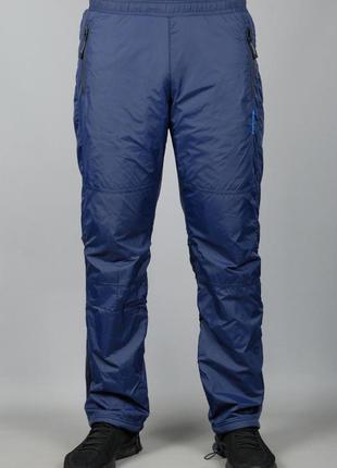 Зимние спортивные штаны плащевка на флисе