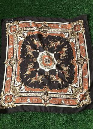 Шелковый платок , винтажный платок из шелка moser