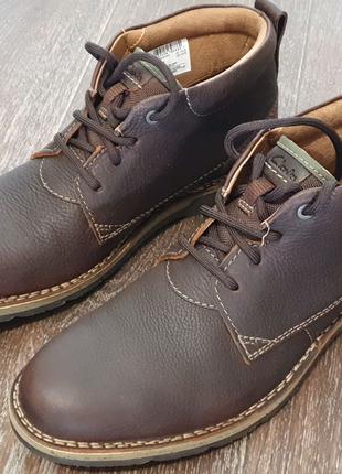 Ботинки Clarks ,осень зима, натур кожа