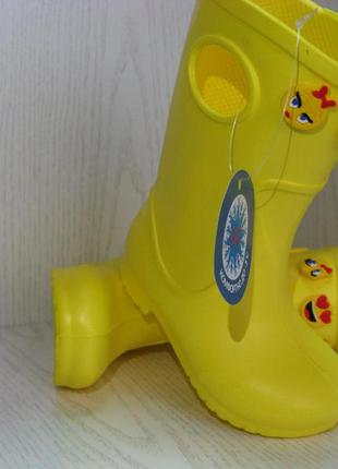 """Сапоги резиновые эва (""""пена"""") детские желтые на девочку 22- 29р."""