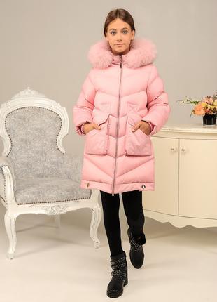 Куртка зимняя, пудра