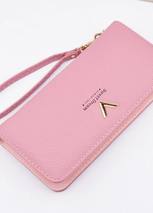 Кошелек клатч женский розовый