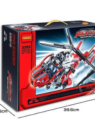 Конструктор DECOOL | Спасательный Вертолет | 407 деталей