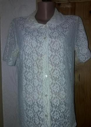 Ретро ажурная рубашка