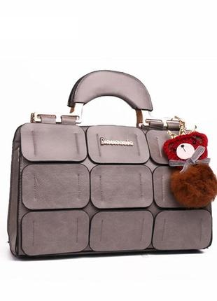 Красивая сумка женская серая