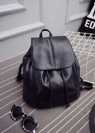 Модный черный женский рюкзак