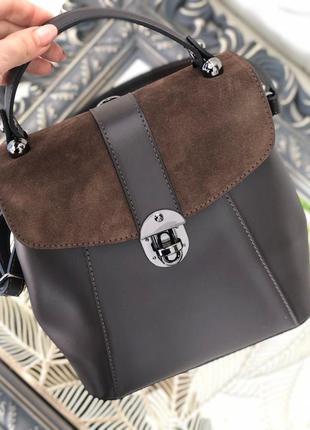 Кожаная сумка рюкзак италия жіночий рюкзак сумка італія