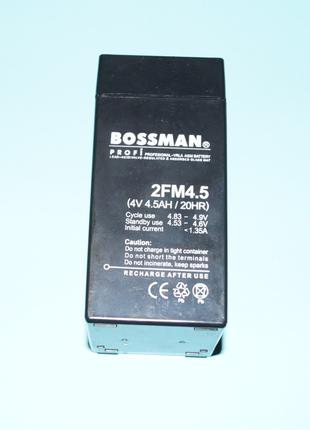 Аккумулятор Bossman, 2FM 4,5, 4V 4,5Ah(4V4,5Ah/20HR)