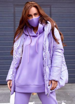 Куртка пуховик зимняя объемная, синтепух утеплитель. очень сти...