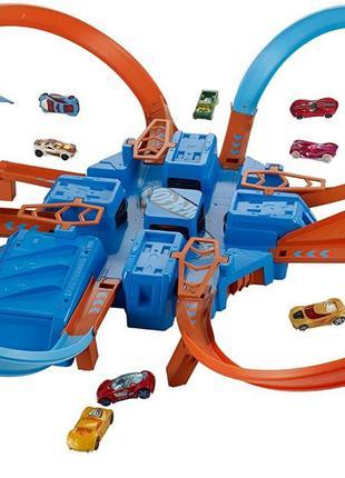 Hot Wheels Crisscross трек Хот Вилс авария Builder ультра крест