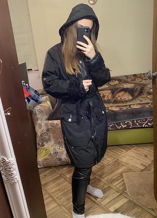 Тёплая длинная куртка зима ew-club