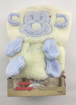 Детский плед одеяло турция для новорожденного махра подарок но...