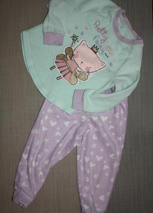 Флисовая пижама ф.george для девочки р-92/98.2/3 г.,отличное с...