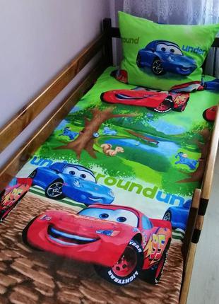 Комплект постельного белья тачки маквин