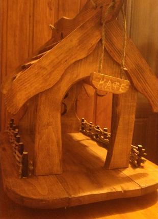 Домик из дерева для птиц 11