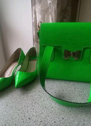 Fellini туфли - лодочки+сумочка