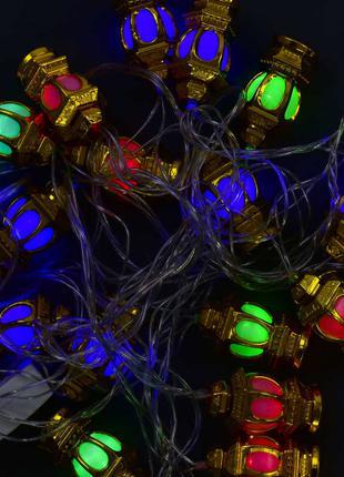 ПРЕДОПЛАТЫ НЕТ! ГИРЛЯНДА 20 ламп, 5 м, мультиколор светодиодная