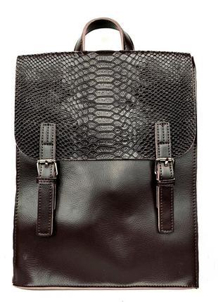 """Кожаный рюкзак """"spirit"""" коричневый"""