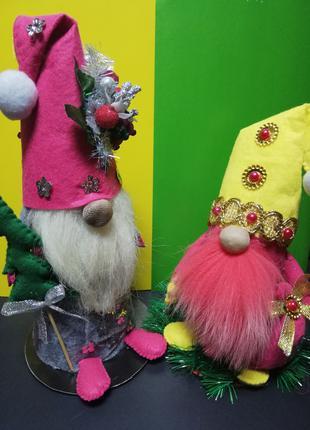 Интерьерные игрушки рождественские гномы