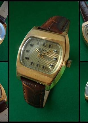 часы «РАКЕТА_БЕЙКЕР» ссср 70-х. поЗОЛОЧЕННЫЕ мужские МЕХАНИКА